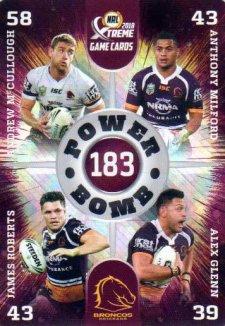2018 NRL Xtreme Power Bomb PB1 Brisbane Broncos