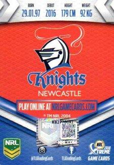 2018 NRL Xtreme Signature Case Card Brock Lamb Knights