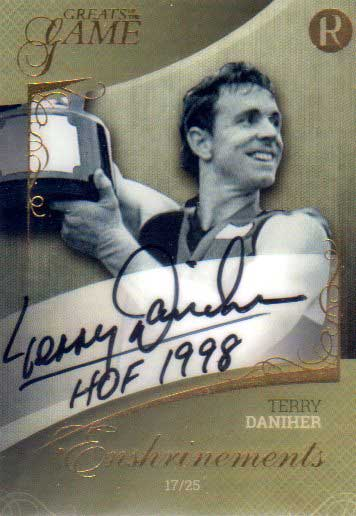 2017 Regal Greats of the Game Enshrinements ENS-TD Terry Daniher #17/25