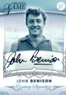 2017 Regal Greats of the Game Century Signature CS-JB John Benison #30/100