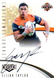 2018 NRL Elite League Sensations Signature LS16 Elijah Taylor Tigers