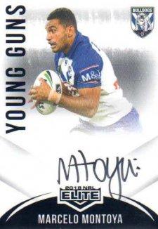 2018 NRL Elite Young Guns Signature YG3 Marcelo Montoya Bulldogs