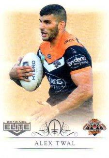 2018 NRL Elite Box Card 160 Alex Twal Tigers