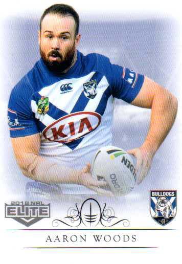 2018 NRL Elite Box Card 30 Aaron Woods Bulldogs