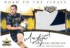 2018 NRL Elite Road to the Finals Jersey Signature RFS2 Michael Morgan Cowboys