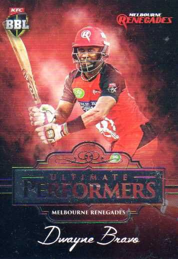 2016/17 Tap N Play CA & BBL Cricket Ultimate Performers UP-6 Dwayne Bravo Renegades #22/60