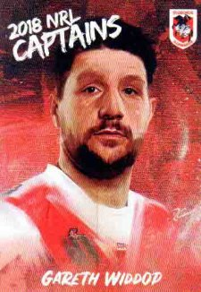 2018 NRL Elite Captains Card CC13 Gareth Widdop Dragons