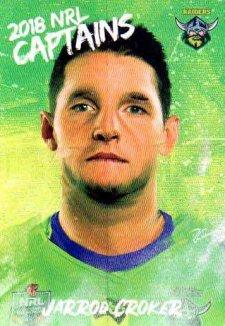 2018 NRL Elite Captains Card CC2 Jarrod Croker Raiders