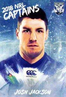 2018 NRL Elite Captains Card CC3 Josh Jackson Bulldogs