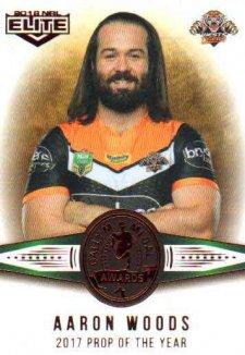 2018 NRL Elite Dally M Awards DM20 Aaron Woods Tigers