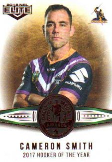 2018 NRL Elite Dally M Awards DM21 Cameron Smith Storm