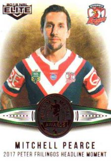 2018 NRL Elite Dally M Awards DM10 Mitchell Pearce Roosters