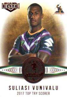 2018 NRL Elite Dally M Awards DM6 Suliasi Vunivalu Storm