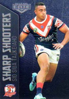 2018 NRL Elite Sharp Shooter SSH28 Sio Siua Taukeiaho Roosters