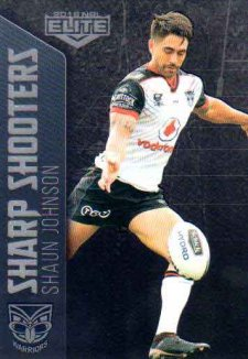 2018 NRL Elite Sharp Shooter SSH30 Shaun Johnson Warriors