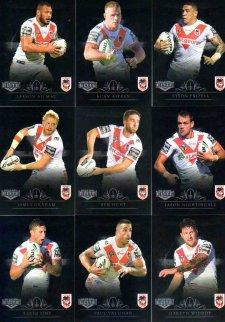 2018 NRL Elite Silver Special Parallel 10-Card Team Set St George Dragons
