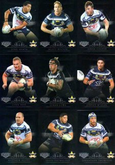 2018 NRL Elite Silver Special Parallel 10-Card Team Set North Queensland Cowboys