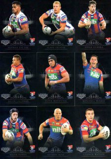 2018 NRL Elite Silver Special Parallel 10-Card Team Set Newcastle Knights