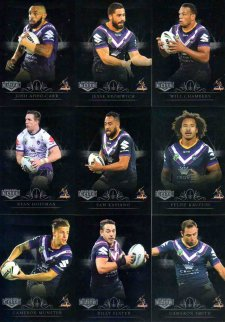 2018 NRL Elite Silver Special Parallel 10-Card Team Set Melbourne Storm