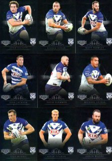 2018 NRL Elite Silver Special Parallel 10-Card Team Set Canterbury Bulldogs
