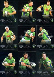 2018 NRL Elite Silver Special Parallel 10-Card Team Set Canberra Raiders
