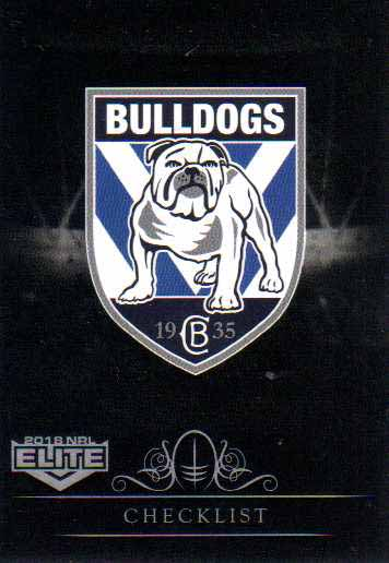 2018 NRL Elite Special Silver Parallel SS21 Bulldogs Checklist