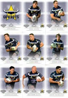 2018 TLA NRL Elite 9-Card Mini Base Team Set North Queensland Cowboys