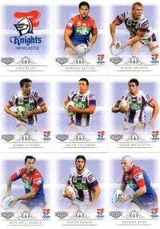 2018 TLA NRL Elite 9-Card Mini Base Team Set Newcastle Knights