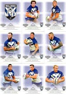 2018 TLA NRL Elite 9-Card Mini Base Team Set Canterbury Bulldogs