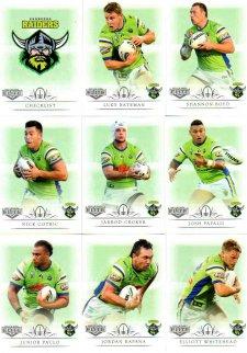 2018 TLA NRL Elite 9-Card Mini Base Team Set Canberra Raiders