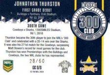 2018 NRL Elite 300 Club Case Card CC5 Johnathan Thurston Cowboys