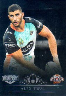2018 NRL Elite Special Silver Parallel SS160 Alex Twal Tigers