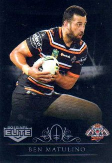 2018 NRL Elite Special Silver Parallel SS155 Ben Matulino Tigers