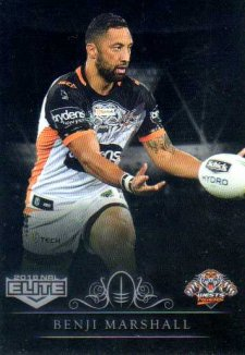 2018 NRL Elite Special Silver Parallel SS153 Benji Marshall Tigers