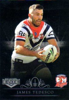 2018 NRL Elite Special Silver Parallel SS140 James Tedesco Roosters