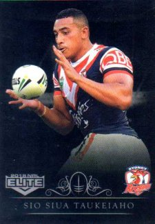 2018 NRL Elite Special Silver Parallel SS139 Sio Siua Taukeiaho Roosters