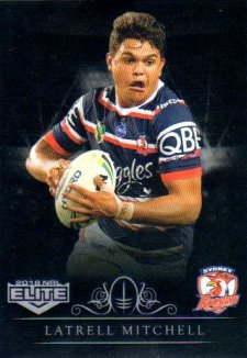 2018 NRL Elite Special Silver Parallel SS137 Latrell Mitchell Roosters