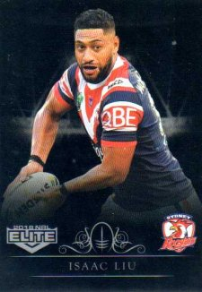 2018 NRL Elite Special Silver Parallel SS136 Isaac Liu Roosters