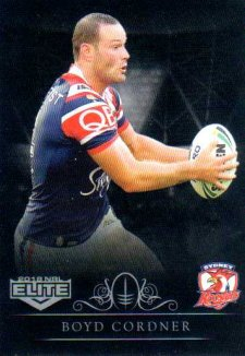 2018 NRL Elite Special Silver Parallel SS132 Boyd Cordner Roosters