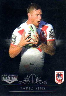 2018 NRL Elite Special Silver Parallel SS128 Tariq Sims Dragons
