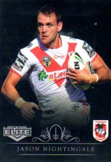 2018 NRL Elite Special Silver Parallel SS127 Jason Nightingale Dragons