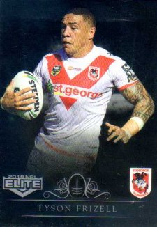 2018 NRL Elite Special Silver Parallel SS124 Tyson Frizell Dragons