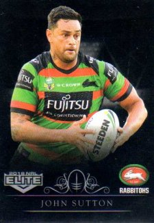 2018 NRL Elite Special Silver Parallel SS119 John Sutton Rabbitohs