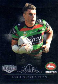 2018 NRL Elite Special Silver Parallel SS113 Angus Crichton Rabbitohs