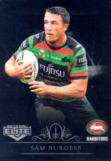 2018 NRL Elite Special Silver Parallel SS112 Sam Burgess Rabbitohs