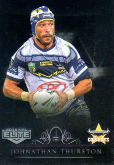 2018 NRL Elite Special Silver Parallel SS90 Johnathan Thurston Cowboys