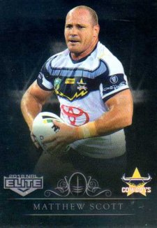 2018 NRL Elite Special Silver Parallel SS88 Matthew Scott Cowboys