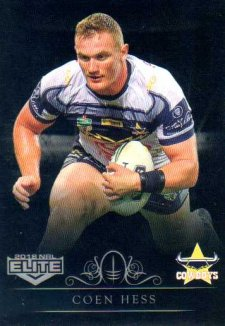 2018 NRL Elite Special Silver Parallel SS85 Coen Hess Cowboys