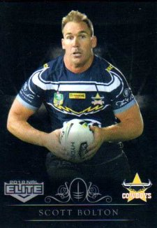 2018 NRL Elite Special Silver Parallel SS83 Scott Bolton Cowboys