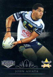 2018 NRL Elite Special Silver Parallel SS82 John Asiata Cowboys